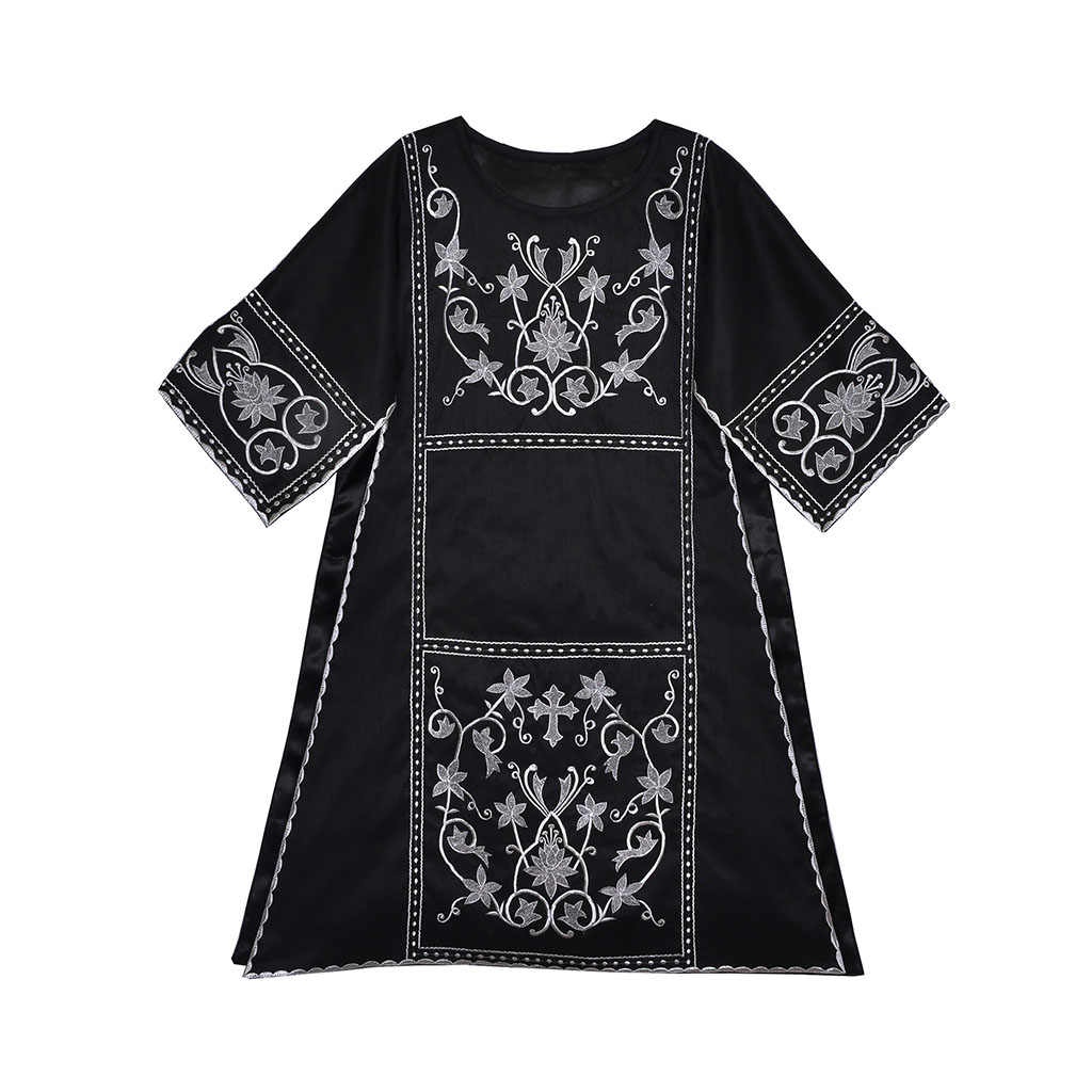Dalmatics Black Roman Silk Dalmatic & Mass Set