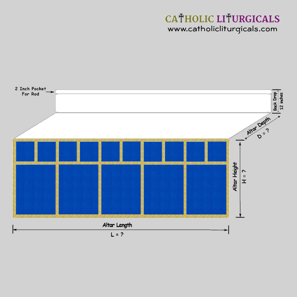 Altar Frontals Blue Altar Frontal - with Mensa Top