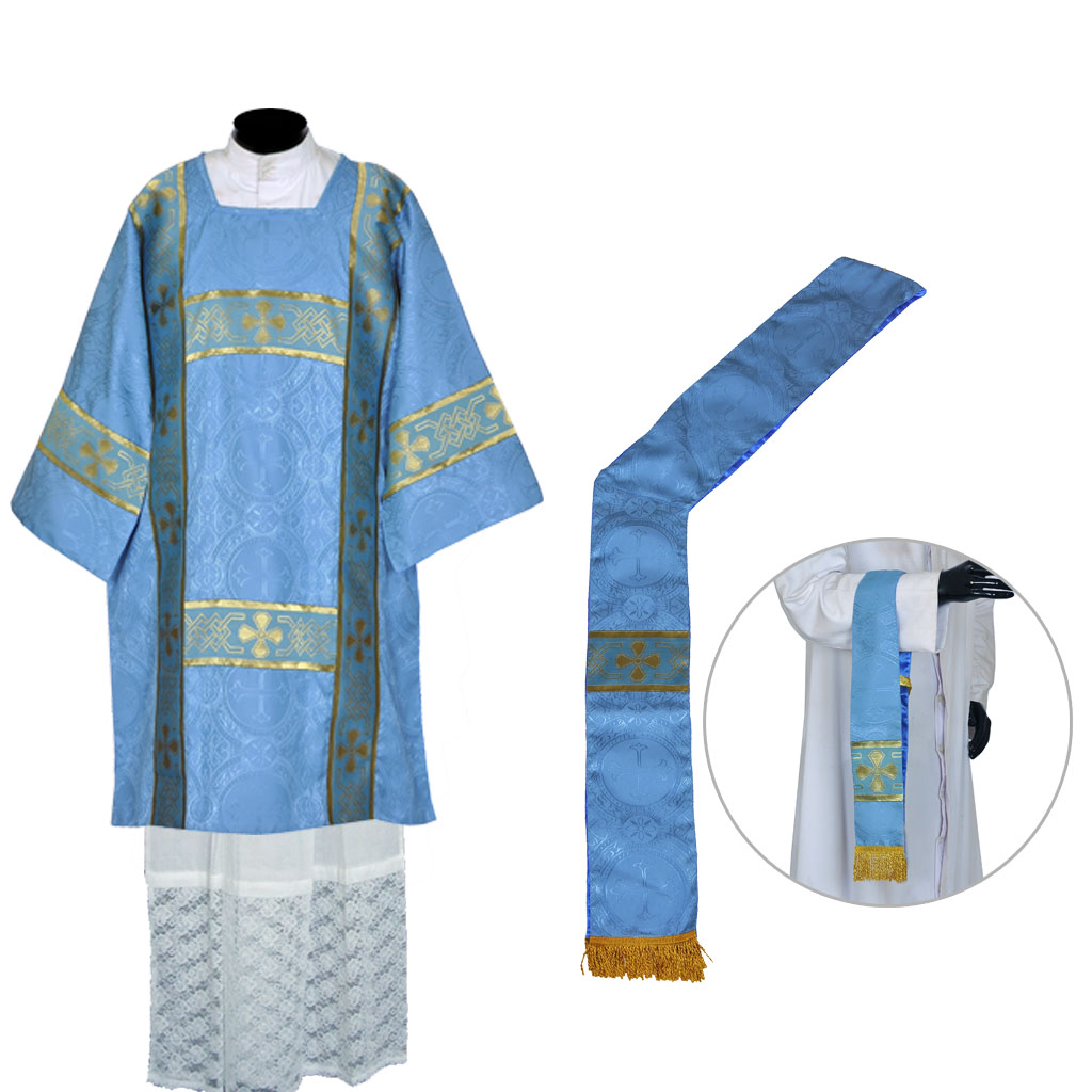 Dalmatics Marian Blue Dalmatic Vestment & Mass Set