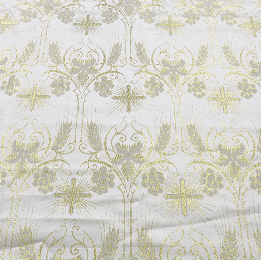Fabrics Cross Designed Brocade Fabric: Metallic Gold