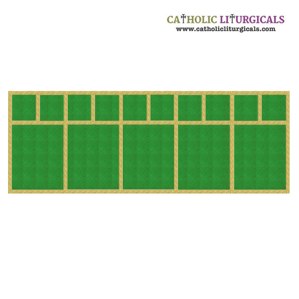 Altar Frontals Traditional Altar Frontal - Green Damask Fabric