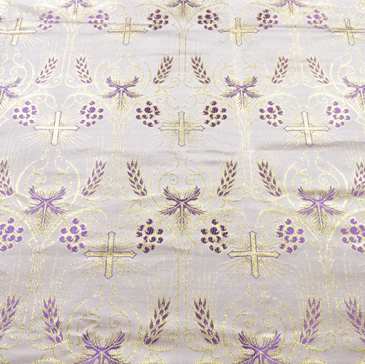 Fabrics Cross Designed Brocade Fabric: Purple (Violet)