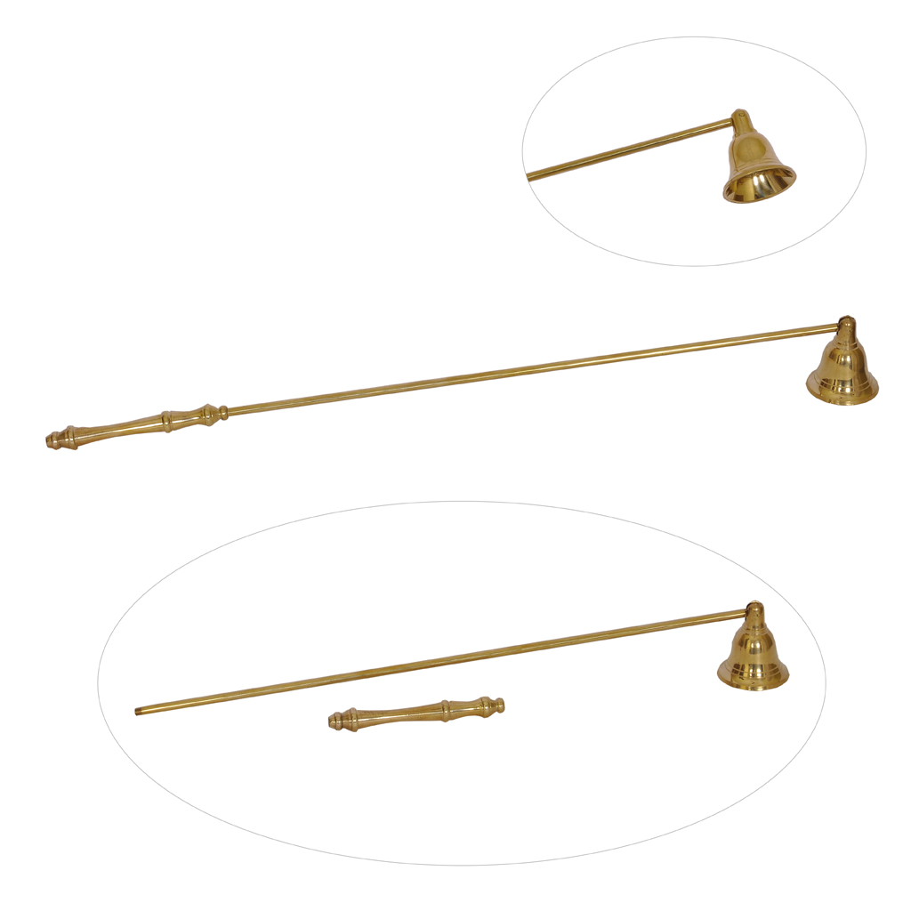 Candle Snuffer Brass Candle Snuffer (18 inches) Gold Tone