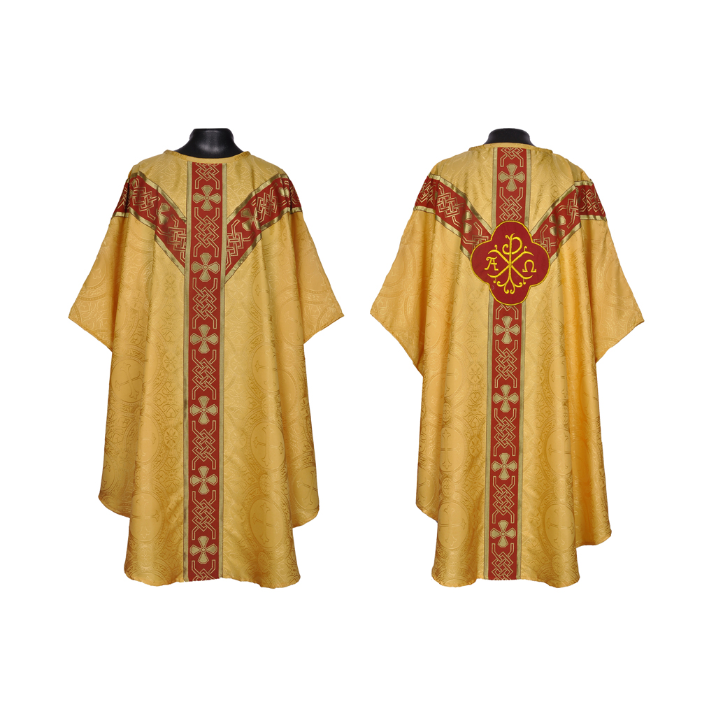 Yellow Gold Vestment & Stole Set - Unlined