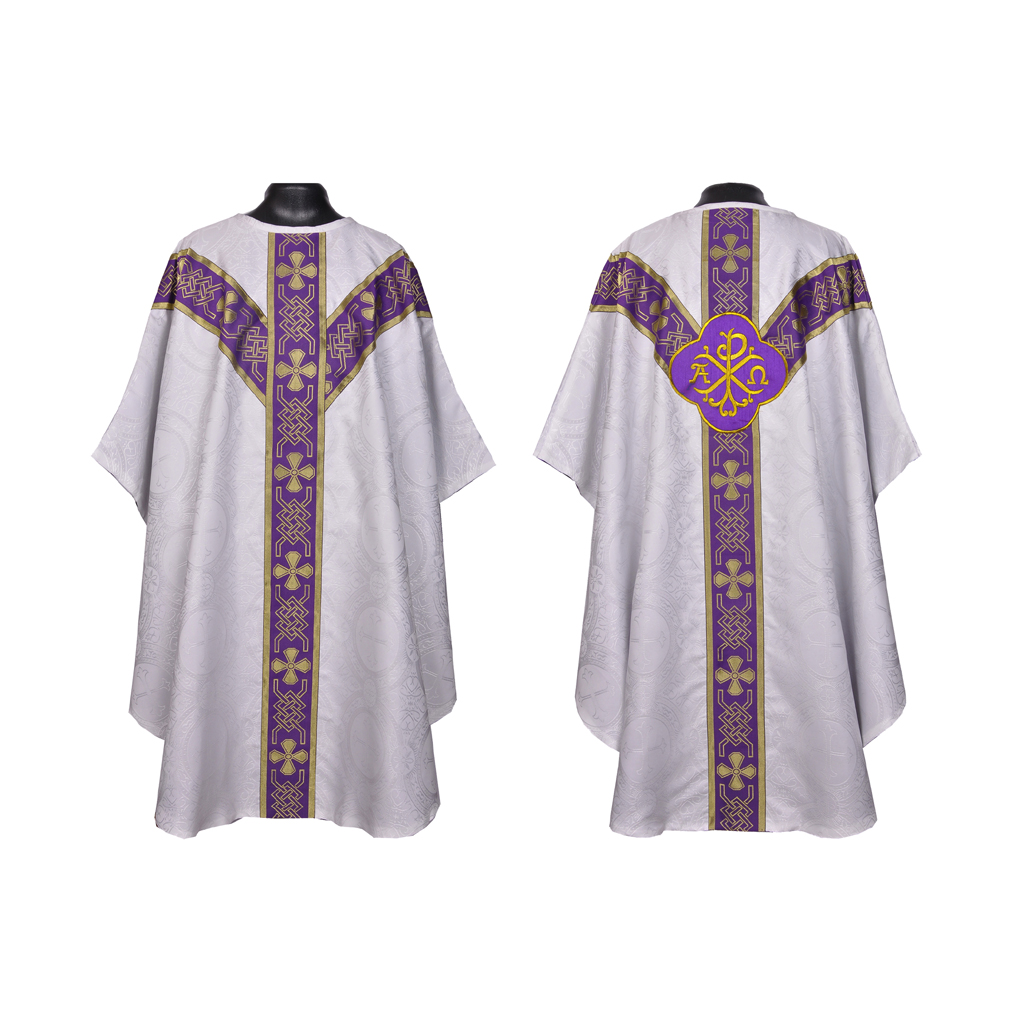White Vestment & Mass Set - Lined