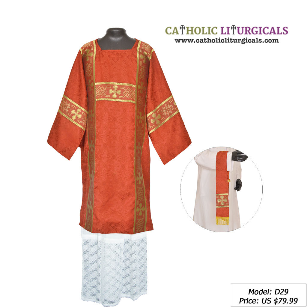 Tunicles Red Roman Tunicle & Mass Set