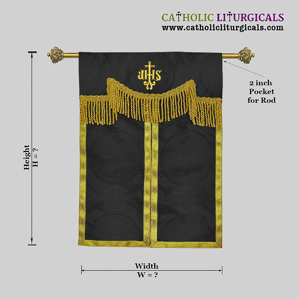 Tabernacle Veils Black Tabernacle Curtain Veil with IHS