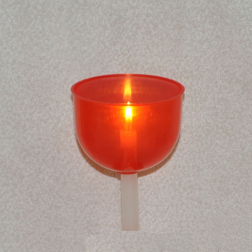 Candle Shades  Red Candle Drip Protectors - Candle Shades
